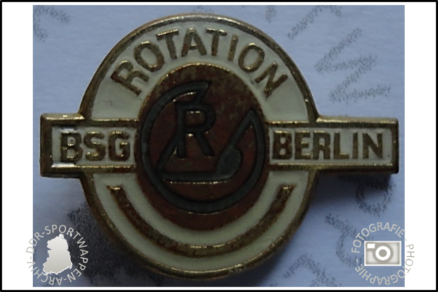 BSG Rotation Berlin Pin